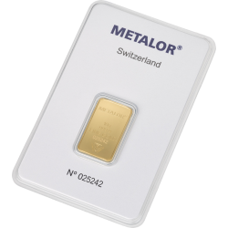 Sztabka złota 10g METALOR