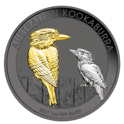 1 oz 2017 Australijska Kookaburra - multiplied plated